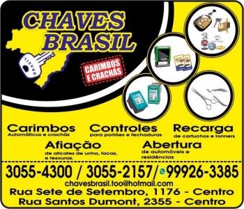 CHAVES BRASIL CHAVEIRO CARIMBOS E CRACHÁS