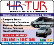 HR TUR TRANSPORTE ESCOLAR UNIVERSITÁRIO E TURISMO