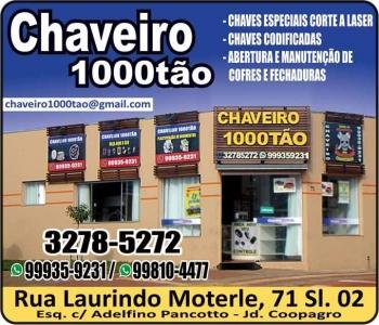 1000TÃO CHAVEIRO MILTÃO