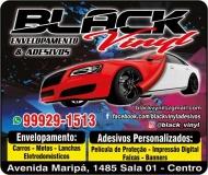 BLACK VINYL ENVELOPAMENTO / ADESIVOS