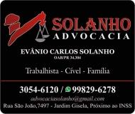 EVÂNIO CARLOS SOLANHO ADVOCACIA oab/pr 34.304