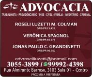 ADVOCACIA ROSELI LUZETTI M. COLMAN / DIREITO TRABALHISTA