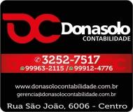 DONASOLO CONTABILIDADE E ASSESSORIA EMPRESARIAL / ESCRITÓRIO CONTÁBIL