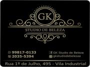 Cartão: GK STUDIO DE BELEZA