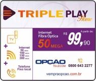 OPÇÃO TELECOM INTERNET / TELECOMUNICAÇÕES