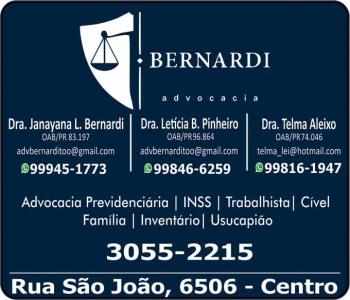 ADVOCACIA JANAYANA L. BERNARDI / DIREITO TRABALHISTA / BERNARDI