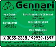 ADVOCACIA DAYRO GENNARI / DIREITO TRABALHISTA E CRIMINAL / ADVOGADOS ASSOCIADOS GENNARI