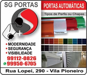 SG PORTAS DE ROLO AUTOMÁTICAS / PORTÕES ELETRÔNICOS