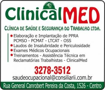 CLINICALMED CLÍNICA DE SAÚDE MEDICINA E SEGURANÇA DO TRABALHO