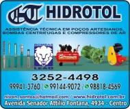 HIDROTOL POÇOS ARTESIANOS BOMBAS / COMPRESSORES DE AR