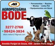 BODE AGROPECUÁRIA E PRODUTOS AGROPECUÁRIOS