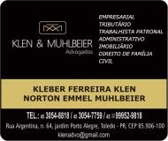 ADVOCACIA KLEBER FERREIRA KLEN / DIREITO TRIBUTÁRIO E EMPRESARIAL / KLEN E MÜHLBEIER