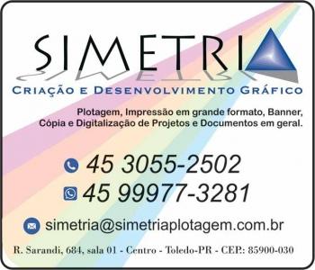 SIMETRIA CRIAÇÃO E DESENVOLVIMENTO GRÁFICO / PLOTAGEM