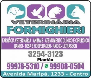 FORMIGHIERI CLÍNICA VETERINÁRIA E PET SHOP / ODONTOLOGIA E HOSPEDAGEM CANINA