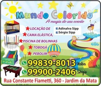 MUNDO COLORIDO LOCAÇÕES DE BRINQUEDOS
