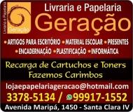 GERAÇÃO LIVRARIA E PAPELARIA INFORMÁTICA