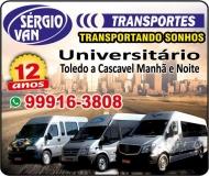 SÉRGIO VAN TRANSPORTE UNIVERSITÁRIO