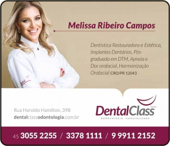 CIRURGIÃO DENTISTA MELISSA RIBEIRO CAMPOS / DENTÍSTICA RESTAURADORA / DENTAL CLASS