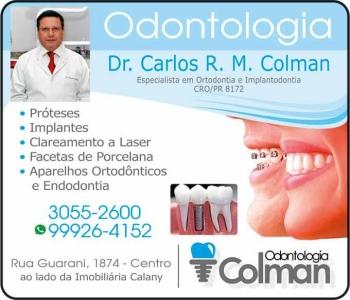 CIRURGIÃO DENTISTA CARLOS RAFAEL M COLMAN / ORTODONTISTA