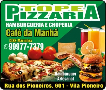 TOPE PIZZARIA HAMBURGUERIA E CHOPERIA / DISK PIZZA / MARMITEX