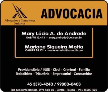 ADVOCACIA CÍVEL / PREVIDENCIÁRIO / TRIBUTÁRIO / PENAL EM TOLEDO PR