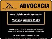 Cartão: ADVOCACIA MARIANE SIQUEIRA MOTTA / DIREITO TRABALHISTA E PREVIDENCIÁRIO