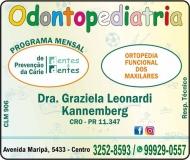 CIRURGIÃO DENTISTA GRAZIELA LEONARDI KANNEMBERG / ODONTOPEDIATRA / DENTES & DENTES