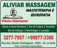 ALIVIAR MASSAGENS FLAVIO KLIEMANN / MASSOTERAPIA E QUIROPATIA