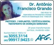 CIRURGIÃO DENTISTA ANTÔNIO FRANCISCO GRANDO / PRÓTESE DENTÁRIA / AFG CLÍNICA ODONTOLÓGICA