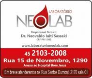 NEOLAB LABORATÓRIO DE ANÁLISES CLÍNICAS
