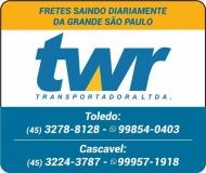 TWR TRANSPORTADORA CARGAS E ENCOMENDAS
