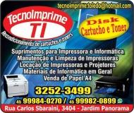 TECNOIMPRIME RECARGAS DE CARTUCHOS E TONERS / INFORMÁTICA E ASSISTÊNCIA TÉCNICA