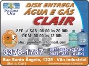CLAIR GÁS<BR>DISK GÁS E ÁGUA