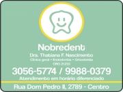 Anuncio - TATHIANA F. DO NASCIMENTO Dra. Cirurgiã Dentista<br>NOBREDENT CLÍNICA ODONTOLÓGICA