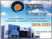Anuncio - HOSPITAL DE OLHOS DE TOLEDO<br>DR. SÉRGIO SÓRIA