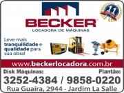 Anuncio - BECKER LOCADORA DE MÁQUINAS<br>AM LOCAÇÕES