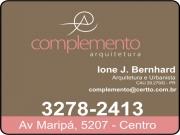 Anuncio - COMPLEMENTO ARQUITETURA<BR>IONE J. BERNHARD Arquiteta e Urbanista