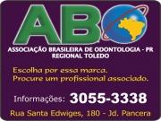 Anuncio - ASSOCIAÇÃO BRASILEIRA DE ODONTOLOGIA ABOSECAO PARANÁ - REGIONAL TOLEDO