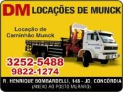 Anuncio - DM LOCAÇÕES DE CAMINHÃO MUNCK