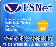 FSNET INFORMÁTICA CELULARES E INTERNET