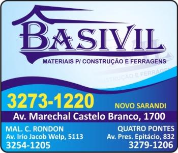 BASIVIL MATERIAIS DE CONSTRUÇÃO E FERRAGENS